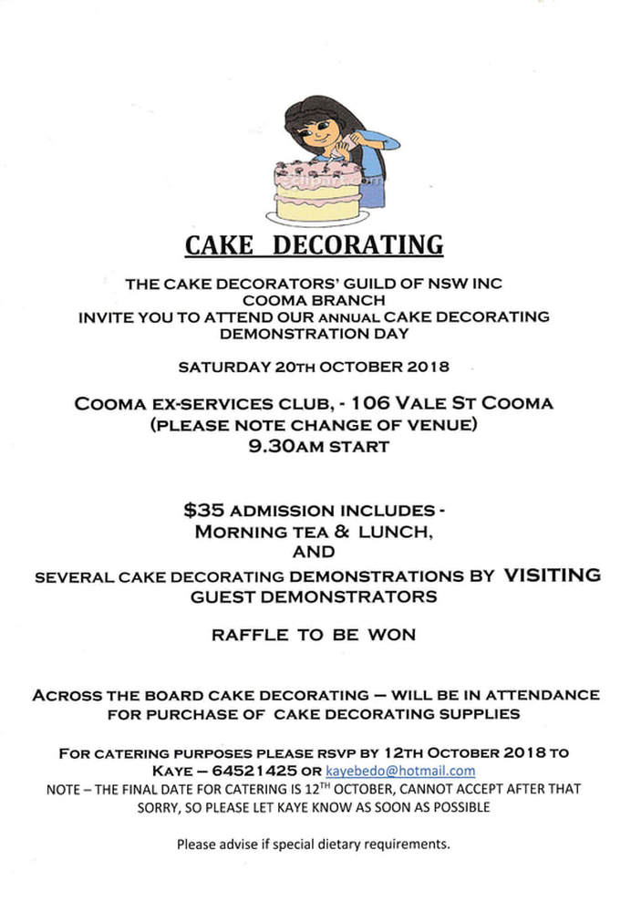 Cooma SRD Cake Decorating